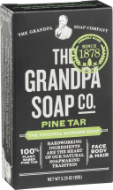 The Grandpa Soap Co. Pine Tar Soap Bar 3.25 ounce product image.