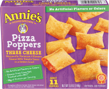 Annie's Homegrown Pizza Poppers Three Cheese 11 each product image.