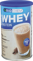 Biochem 100% Whey Protein Chocolate 15.4 oz product image.