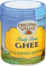 Organic Valley Ghee Clarified Butter 7.5 oz. product image.