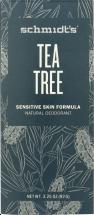SCHMIDT'S DEODORANT Deodorant Stick Tea Tree 3.25 oz product image.