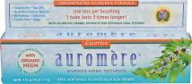 Auromere Toothpaste Licorice 4.16 oz product image.