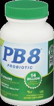 PB 8 Probiotic Vegetarian Formula 120 vegetarian capsules product image.