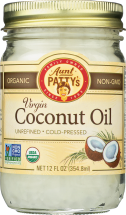 Aunt Patty's Organic Unrefined Virgin Coconut Oil 12 fl oz. product image.