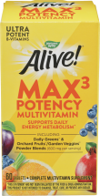 Nature's Way® Alive!® (With Iron) Multi-Vitamins/Multi-Minerals 60 tablets product image.