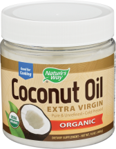 Nature's Way® Organic Extra Virgin Coconut Oil General Health 16 oz product image.