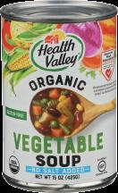 Health Valley No Salt Vegetable Soup 15 oz product image.
