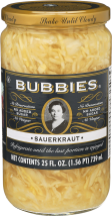Bubbies® Sauerkraut 25 fl oz. product image.
