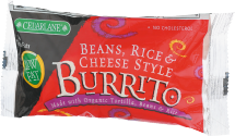 Cedarlane Burrito Beans, Rice & Cheese Style 6 ounce product image.