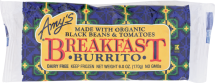 Amy's Breakfast Burrito Breakfast Burrito 6 oz product image.