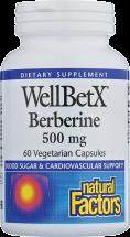 WellBetX® Berberine 500 mg product image.