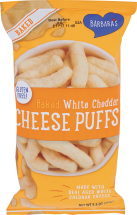 Baked White Cheddar Cheese Puffs product image.