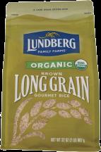 Lundberg Organic Long Grain Brown Rice 32 oz product image.