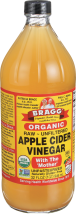 Bragg Apple Cider Vinegar Raw & Unfiltered 32 fluid ounce product image.