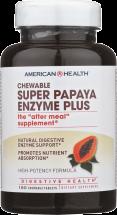 American Health Super Papaya Enzyme Plus 180 tabs product image.