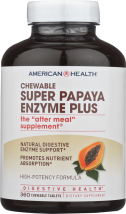 American Health Super Papaya Enzyme Plus 360 tablets product image.