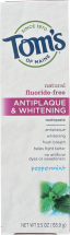 Peppermint Antiplaque & Whitening Toothpaste product image.