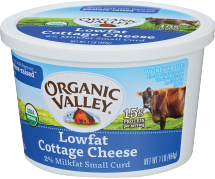 Organic Valley Cottage Cheese 1 pound product image.
