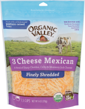 Organic Mexican Blend Shredded Cheese product image.