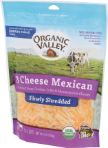 Organic Valley Mexican Blend Shredded Cheese 1.5 cup product image.