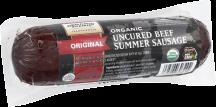 Organic Prairie Organic Uncured Beef Summer Sausage 12 oz. product image.