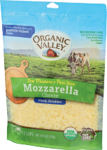 Organic Valley Organic Shredded Cheese 6 oz. product image.