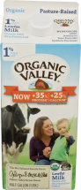 Organic Valley Lowfat Milk 1% Milk Fat 0.5 gallon product image.