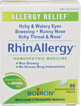 Rhinallergy Tablets 60 product image.