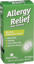Natrabio® Allergy Relief 60 tablets product image.