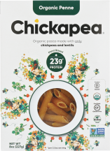 Organic Chickpea & Lentil Pasta - Penne product image.