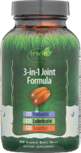 Irwin Naturals 3-In-1 Joint Formula® 90 softgels product image.