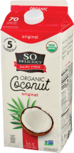 So Delicious Organic Coconut Milk Beverage product image.