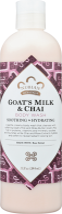 Nubian Heritage Goat's Milk & Chai Body Wash 13 fl oz. product image.