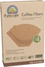 Unbleached #4 Coffee Filters product image.