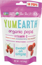 Yumearth Vitamin C Pops 14 each product image.