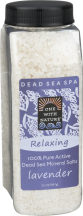 One With Nature Lavender Dead Sea Bath Salts 32 oz product image.