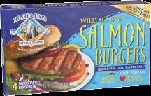 Wild Alaskan Salmon Burgers product image.