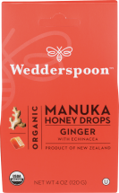 Organic Manuka Honey Drops Ginger product image.
