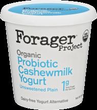 Forager Project Organic Dairy-Free Unsweetened Plain Cashewmilk Yogurt Alternative product image.