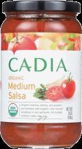 Cadia Organic Medium Salsa 16 oz product image.