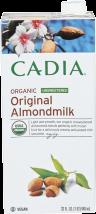 Cadia Almondmilk Unsweetened 32 oz. product image.