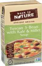 Back To Nature Tuscan 3 Bean Soup With Kale & Millet 17.4 oz product image.