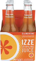 Izze® Clementine Sparkling Juice 4 pack product image.