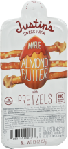 Justin's Snack Pack Maple Almond 1.3 oz product image.