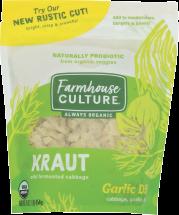 Farmhouse Culture Organic Garlic Dill Pickle Kraut 16 oz product image.