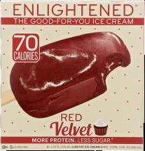 Enlightened Red Velvet Ice Cream Bar 4 bars product image.