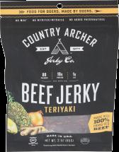 Country Archer Teriyaki Beef Jerky 3 oz product image.