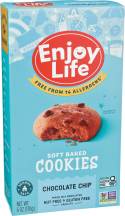 Enjoy Life Soft Baked Chocolate Chip Cookies 6 oz product image.