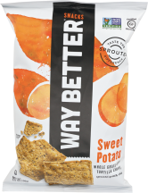 Sweet Potato Tortilla Chips product image.