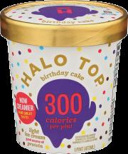 Halo Top Birthday Cake Ice Cream 1 pint product image.